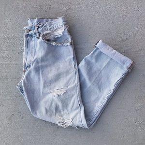 VTG Destroyed Butt Rip Distressed Boyfriend Jeans